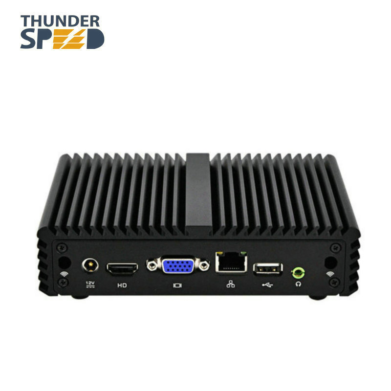 X86 Mini PC Win 10 Linux Ubuntu Intel Celeron J1900 Quad Core Fanless Desktop-Computer 12 V Saving