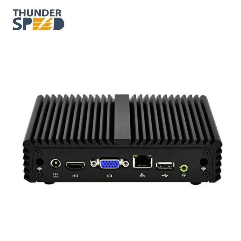 X86 mini PC Win 10 Linux Ubuntu Intel Celeron J1900 Quad Core bez wentylatora komputer stacjonarny 12 V oszczędność