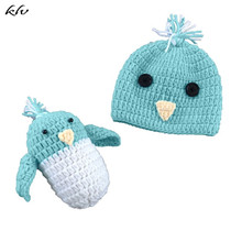 Newborn Baby Photography Props Accessories Baby Hat Infant Boys Girls Crochet Costume Outfits Hat Little Bird Set 0-3 Months crochet butterfly shape photography costume set for baby
