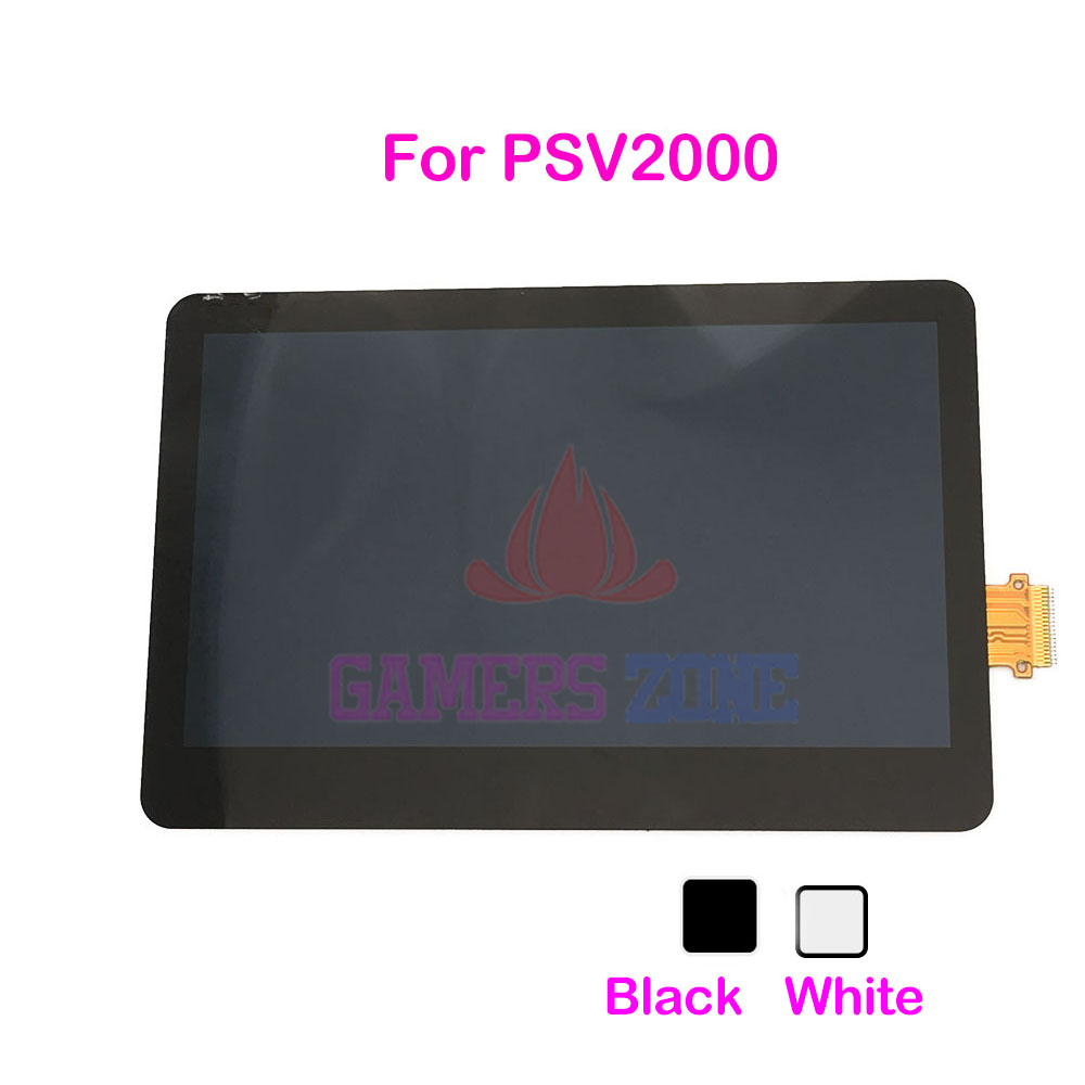 6PCS White Black Replacement LCD Screen For PSV2000 LCD Display Panel For For Psvita PSV 2000