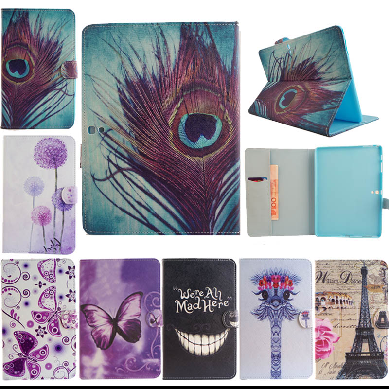 Fashion Cover PU Leather Cases for Samsung Galaxy Tab S 10.5inch T800 T801 T805 Case Cover for Samsung T800 tablet S5555D