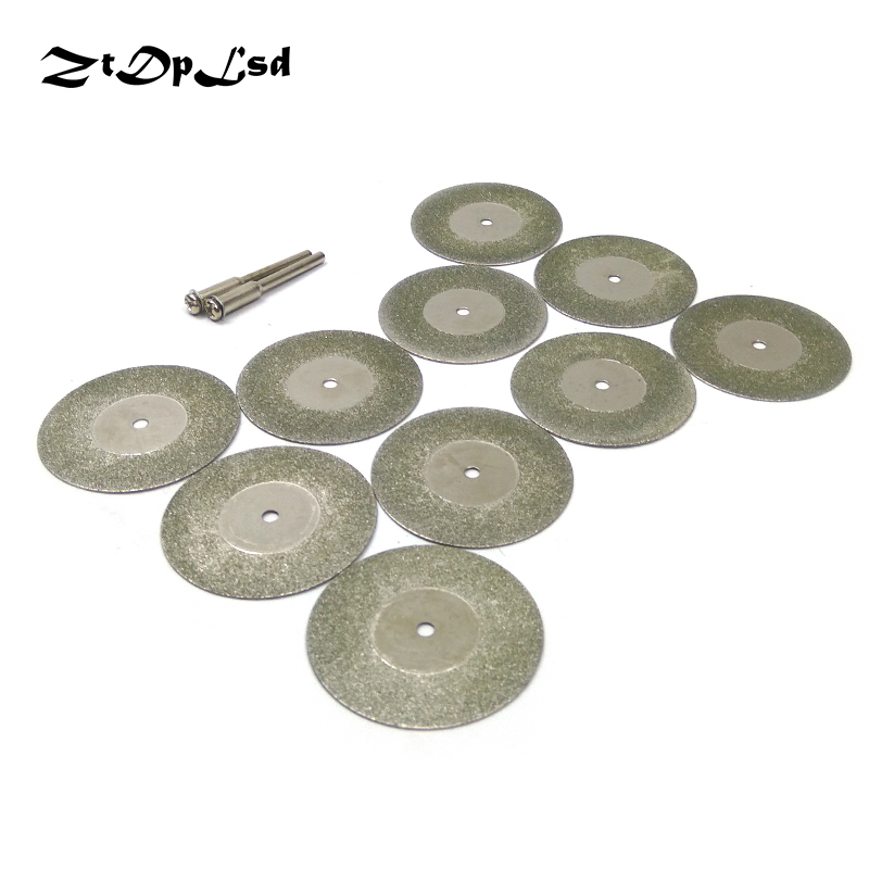 ZtDpLsd 10pcs 40mm Dremel Accessories Diamond Grinding Wheel Saw Mini Circular Saw Cutting Disc Dremel Rotary Tool Diamond Disc
