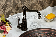 Однорычажный бассейна кухонной мойки смесители кран черный цвет туалет высокий класс латунь медь ванной отеля классический