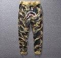 2016 высокое качество случайных брюки мужчины S-XL Марка мужчины брюки мужские брюки хип-хоп дизайн