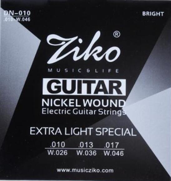 ziko guitar strings 010 046 electric guitar strings guitar parts musical instruments. Black Bedroom Furniture Sets. Home Design Ideas