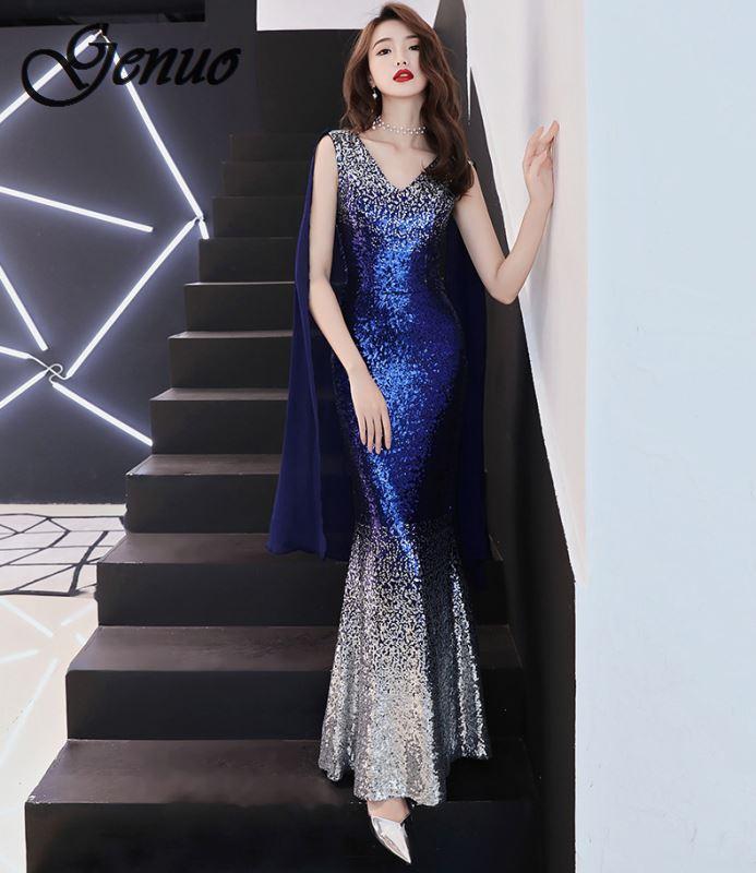 Grande taille S ~ 3XL femmes robes formelles dames Long Banquet fête bal sans manches dos nu poches slim a-ligne robe vestido longo
