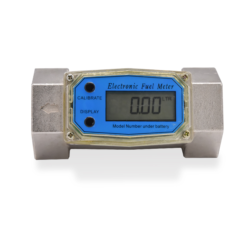 Digital Flowmeter K24 Electronic Liquid Turbine Meter Electronic Diesel Flowmeter 1.5 Inches Fuel Oil Flow Meter 38 380L/MIN