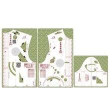Regla de diseño de tela a la moda 1:1, molde de cultivo, plantilla de dibujo para estudiantes de escuela, regla prototipo de ropa