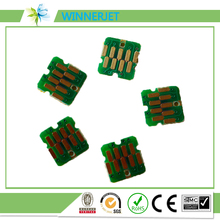 printer spare parts for epson surecolor, more stable T3200 cartridge chip one time use chip for epson one time chip for mimaki lf140 0728 uv cartridge 7 colors cmyklclmwh printer parts