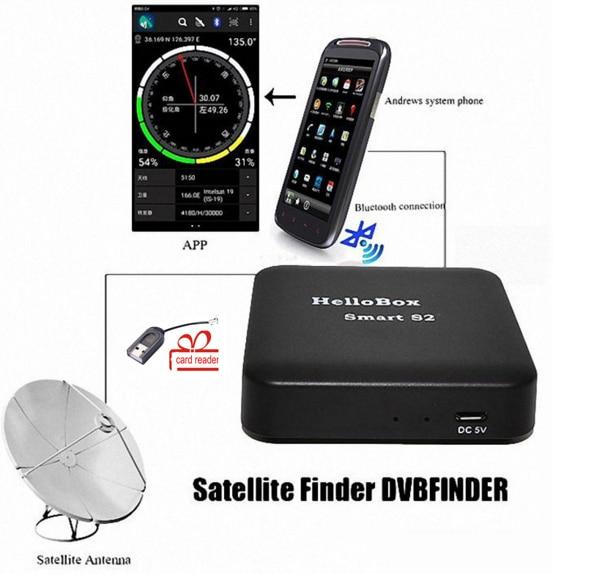 Hellobox Smart S2 & DVBplayer apk:Enjoy satellite TV on Android smart phone better than B1 Satellite Finder DVB finder hellobox b1 bluetooth satellite finder with android system app for satellite tv receiver new style app satellite meter