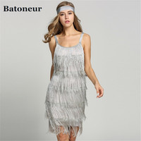 2018 Straps Summer Gatsby Women S Size Clothes Glam Women Costume Long Clothing Party Tassels Flapper