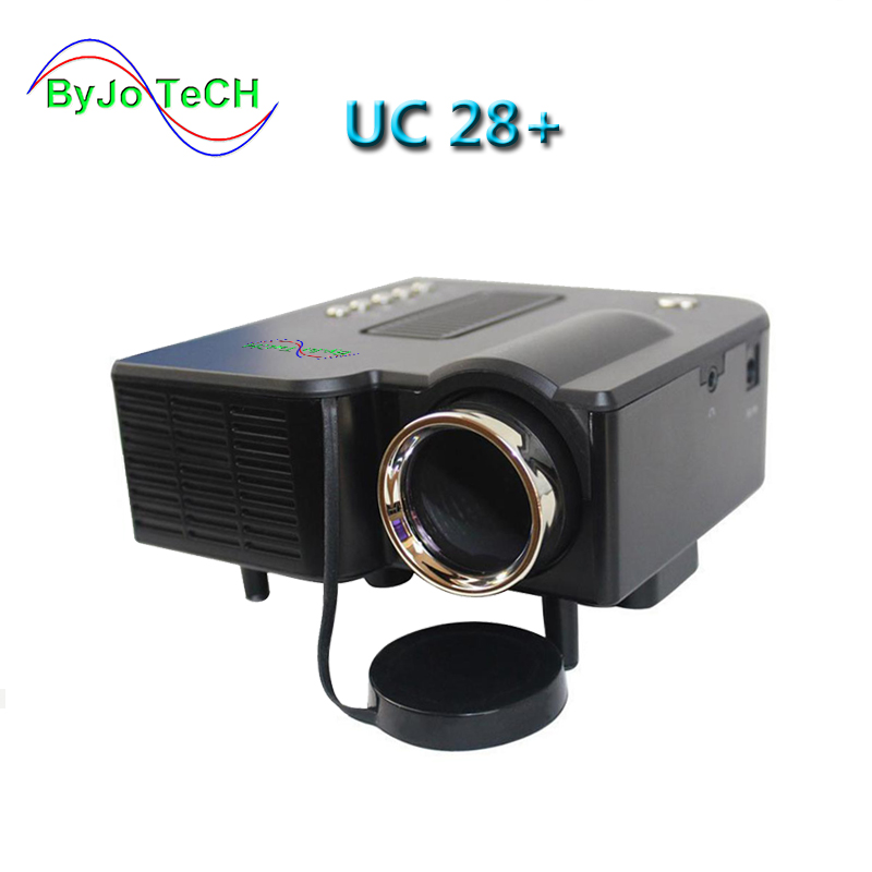 ByJoTeCH Multidimension UC28+ Household Mini LED Projector Support Computer USB Flash SD Card And DVD Proyector