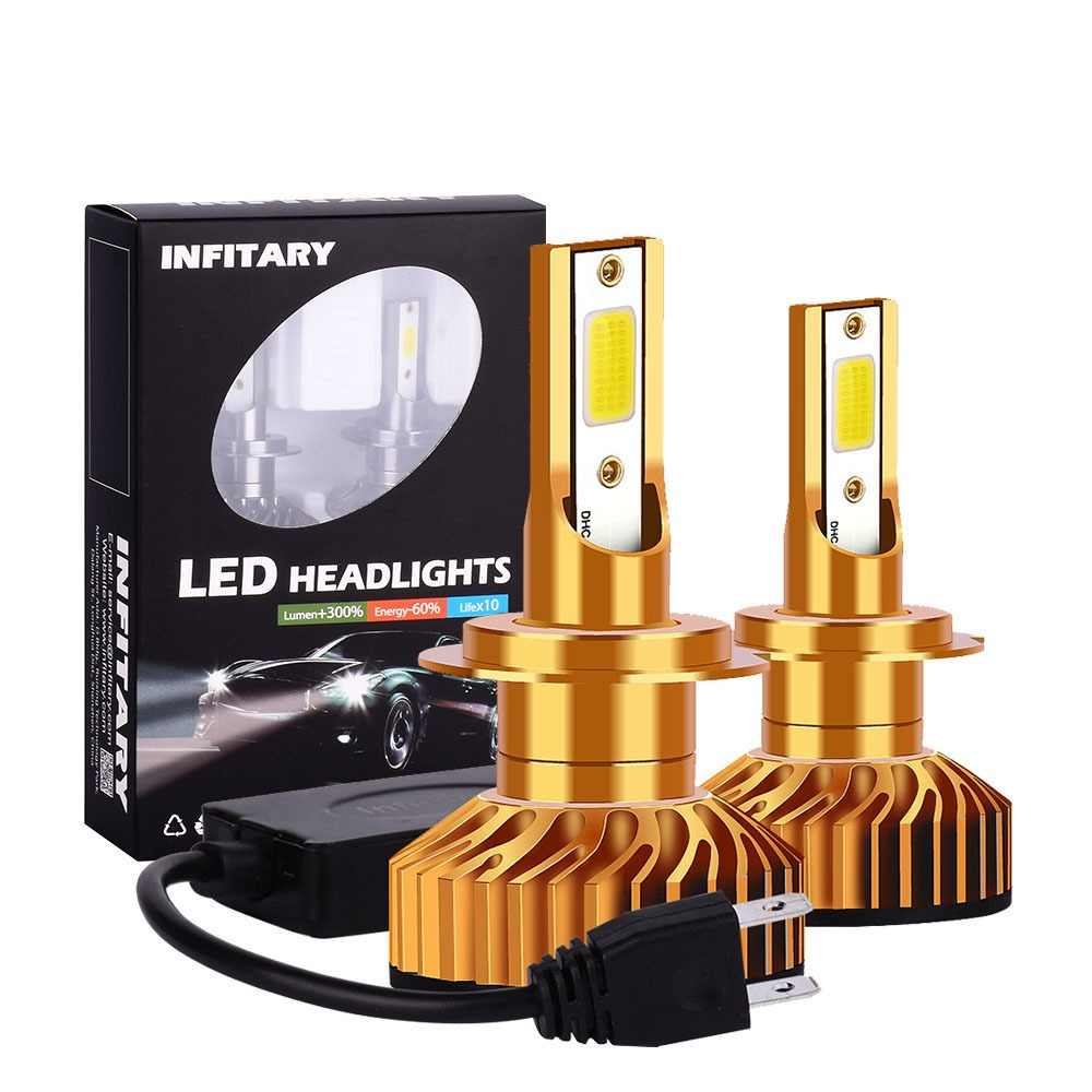 Infitary H7 LED Car Light H4 LED H1 H11 H3 H13 9005 HB3 9006 HB4 9004 9007 880 72W 8000LM 12V 24V 6500K Auto Headlight Fog Lamp