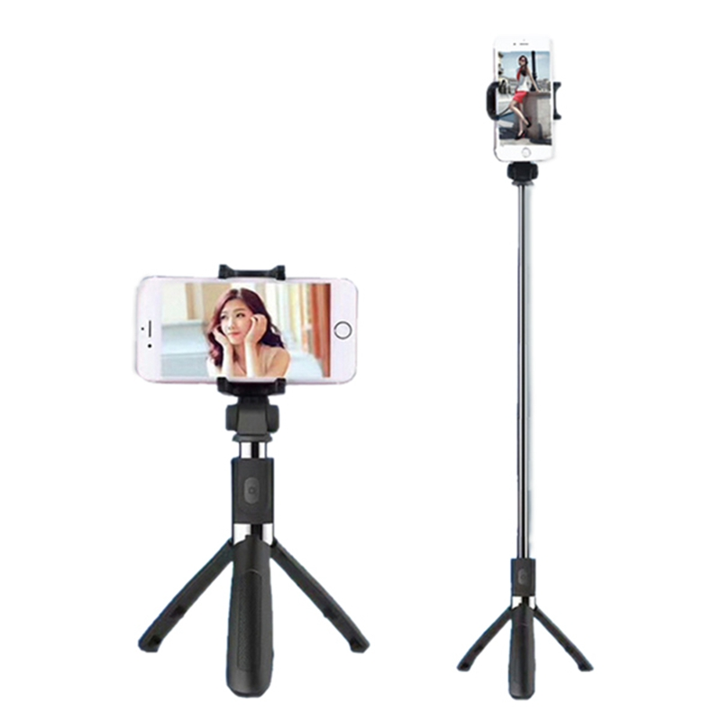 Bakeey L01 360 Degree Rotatable Extendable Tripod Selfie Stick with Bluetooth Remote Control for iOS 5.1 and Android Over 4.3