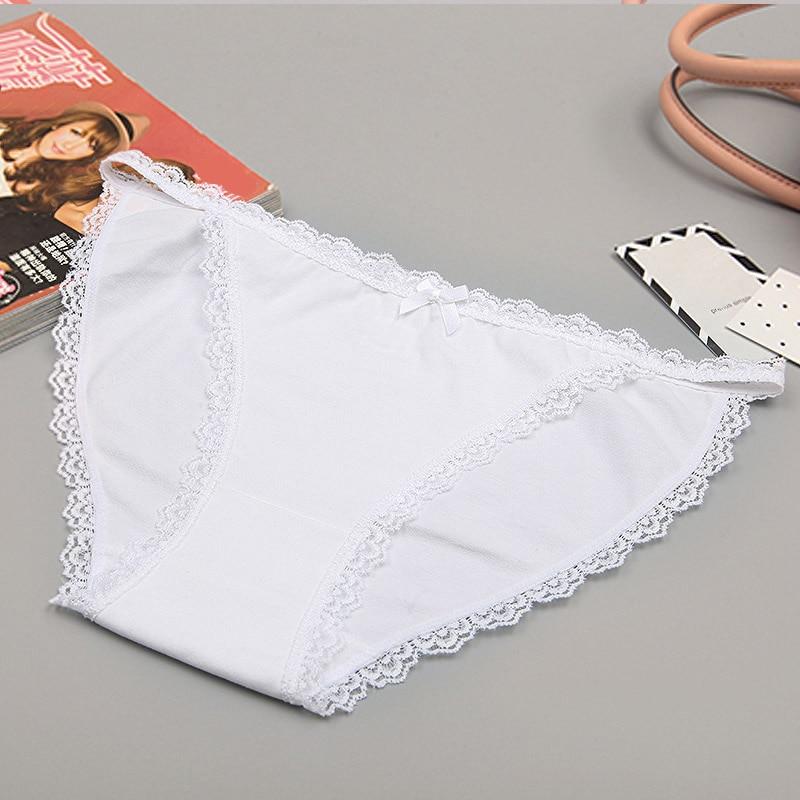 LANGSHA Sexy Bikini G-String Thong Underwear Women   Panties   Seamless Lace Girls Cotton Breathable   Panty   Lingerie Briefs Ladies XL