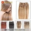 16-24inch Brazilian Virgin Hair Clip In Human Hair Extensions 20 Colors 100% Remy Human Hair Brazilian Clip In Hair Extension
