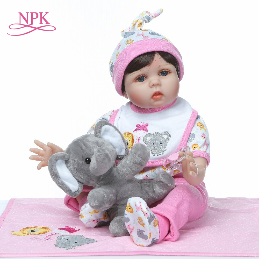 NPK  Reborn Baby Lifelike 55cm Girl Cute elephant toy Christmas Gift Plush Toys Kids Playmate Babe Bonecas rebornNPK  Reborn Baby Lifelike 55cm Girl Cute elephant toy Christmas Gift Plush Toys Kids Playmate Babe Bonecas reborn
