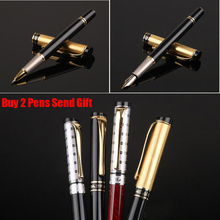 Free Shipping New Arrival Business Writing Roller Ballpoint Pen Full Metal Luxury Gift Office Pen Buy 2 Pens Send Gift picasso m06 roller pen metal sign rollerball ballpoint pens luxury fashion gift with iron box