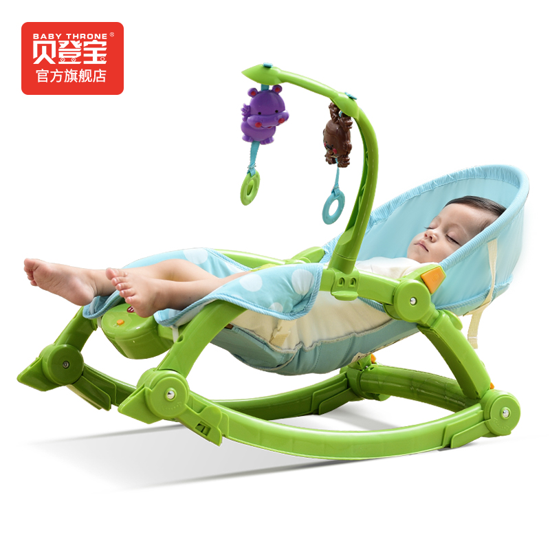 Baby Rocking Chair, Multifunctional Cradle Bed, Neonatal Electric Children's Recliner mutifunctional portable adjustable infant baby swing rocking chair for newborn cradle lounge recliner recliner baby toys