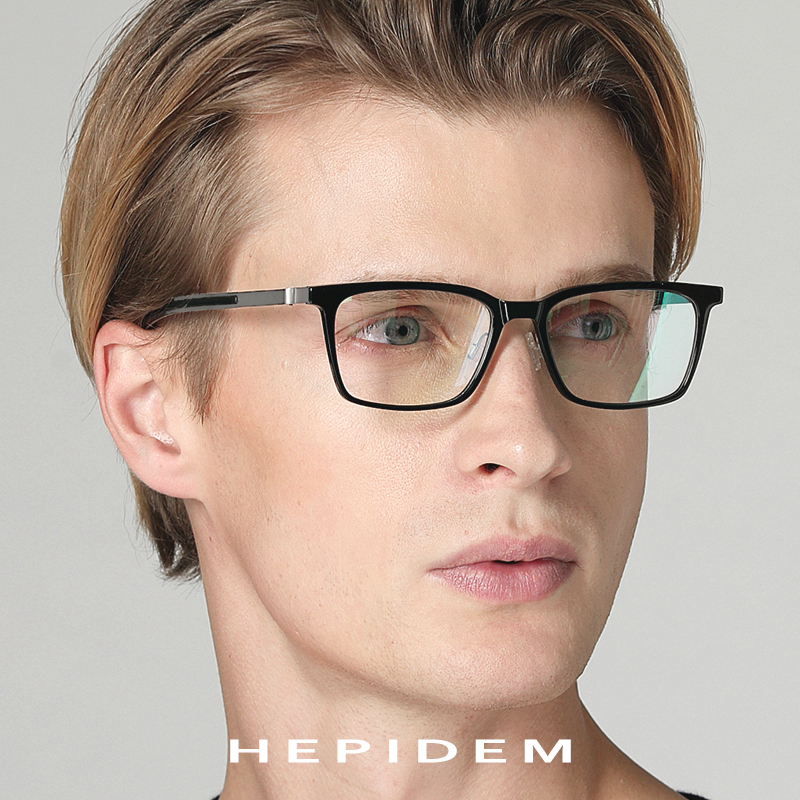 Acetate B Titanium Glasses Frame Women Ultralight Prescription Eyeglasses Men 2018 Myopia Optical Screwless Eyewear