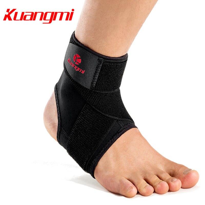 Kuangmi 1 PC Ajustável Pressurized Bandagem Suporte do Tornozelo Dos Homens & mulheres Ankle Brace para a Execução de Basquete