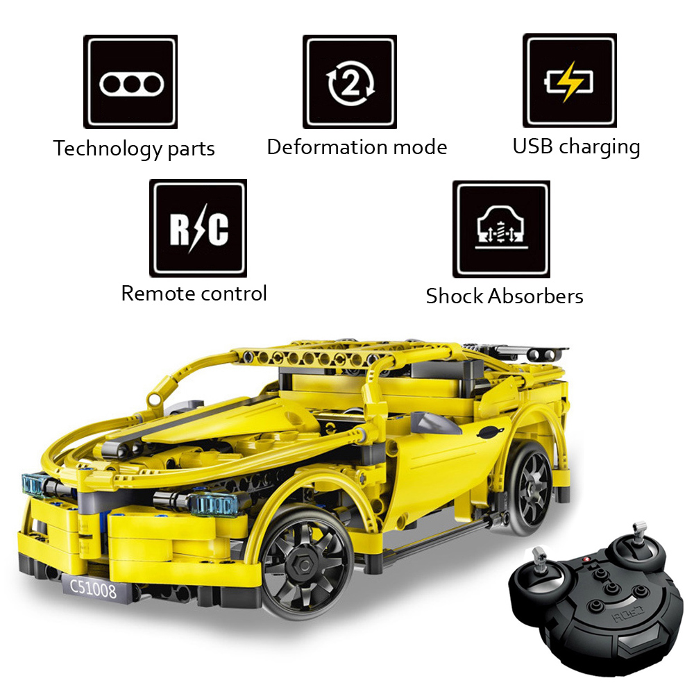 rc track high speed remote control race car machine radio controlled cars model building blocks. Black Bedroom Furniture Sets. Home Design Ideas
