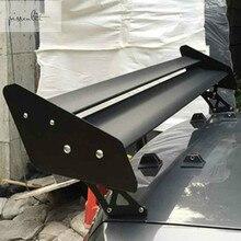 Универсальный Автомобильный спойлер двойной слой Для Седана гоночного автомобиля 135 см Алюминиевый задний багажник GT Спойлеры крыло подходит для BMW Honda крылья
