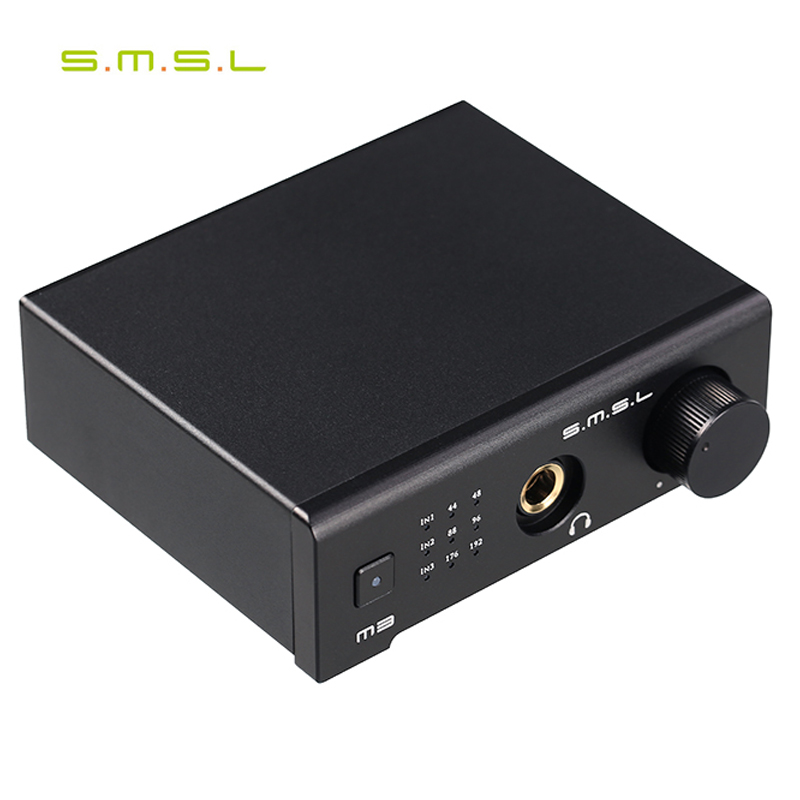 SMSL M3 USB AMP Multi-function Optical Coaxial DAC Headphone Amplifier Portable USB Powered Audio Decoder Portable DAC Converter smal a6 hifi digital amplifier 50wx2 dac digital 110v 220v native dsd512 usb optical coaxial lp player cd analog input