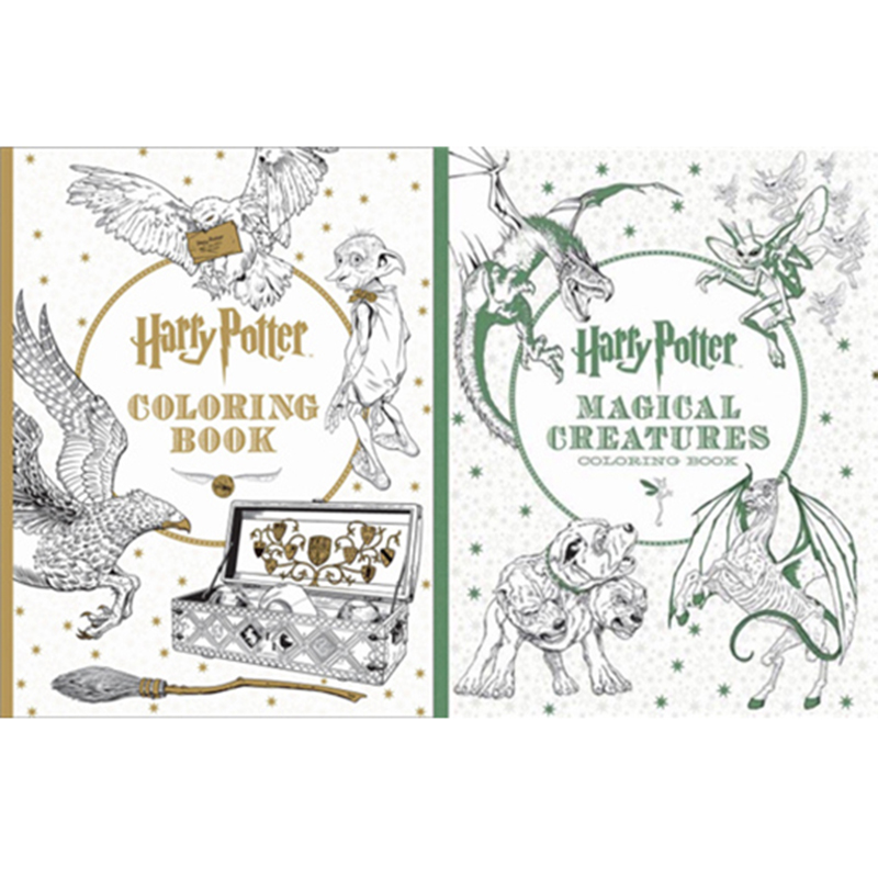 Harry Potter Book Set Big W : Stationery set pages harry potter coloring book magic