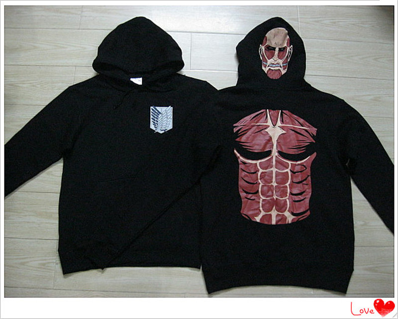2018 Attack On Titan Muscle Man hoodie hoody top S size