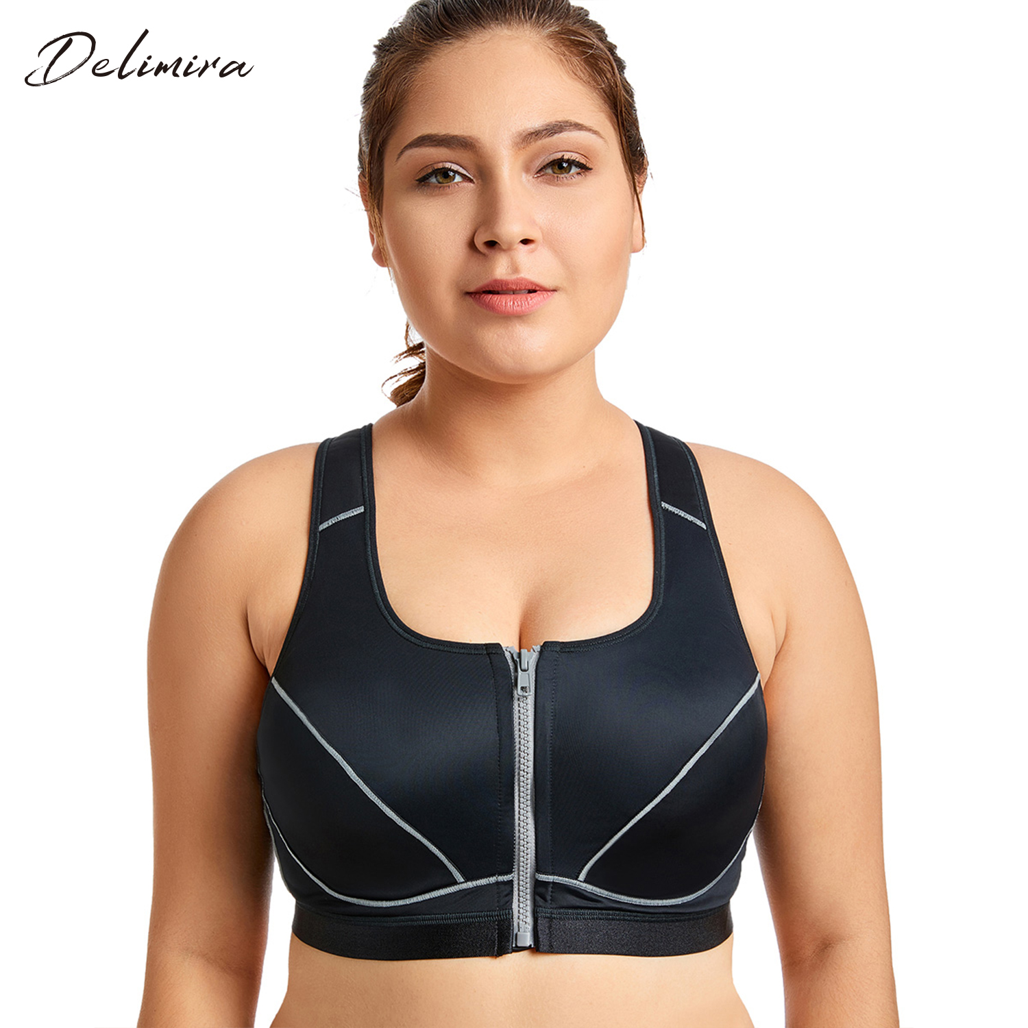 359c00af06a Detail Feedback Questions about Women s High Impact Front Closure Racerback  Full Support Padded Fitness Bra on Aliexpress.com