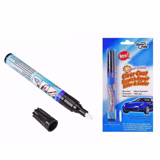 1pcs Magic Permanent Water Resistant Works On All Colors Fix It Pro Clear Car Coat Scratch Cover Remove Repair Painting Pen