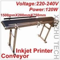 Абсолютно Новый струйный принтер конвейер 120 Вт конвейерный стол ленточный Перевозчик CSD120 ленточный конвейер для бутылок/коробка/Сумка/нак