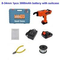 1500 мАч 3000 автоматический устройство для связывания арматуры перезаряжаемые литиевых батарея электрический инструмент арматура уровня