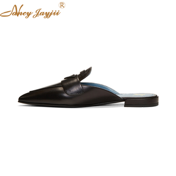 Nancyjayjii Women Slippers Adult Solid Outside&Indoor sewing Fashion Black Square heel Spring/Autumn Sexy  Mature Leisure 2018