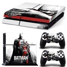 Para a pele ps4 batman arkham city vinyl decalque capa para sony playstation 4 n dois controladores tn-p4-1230