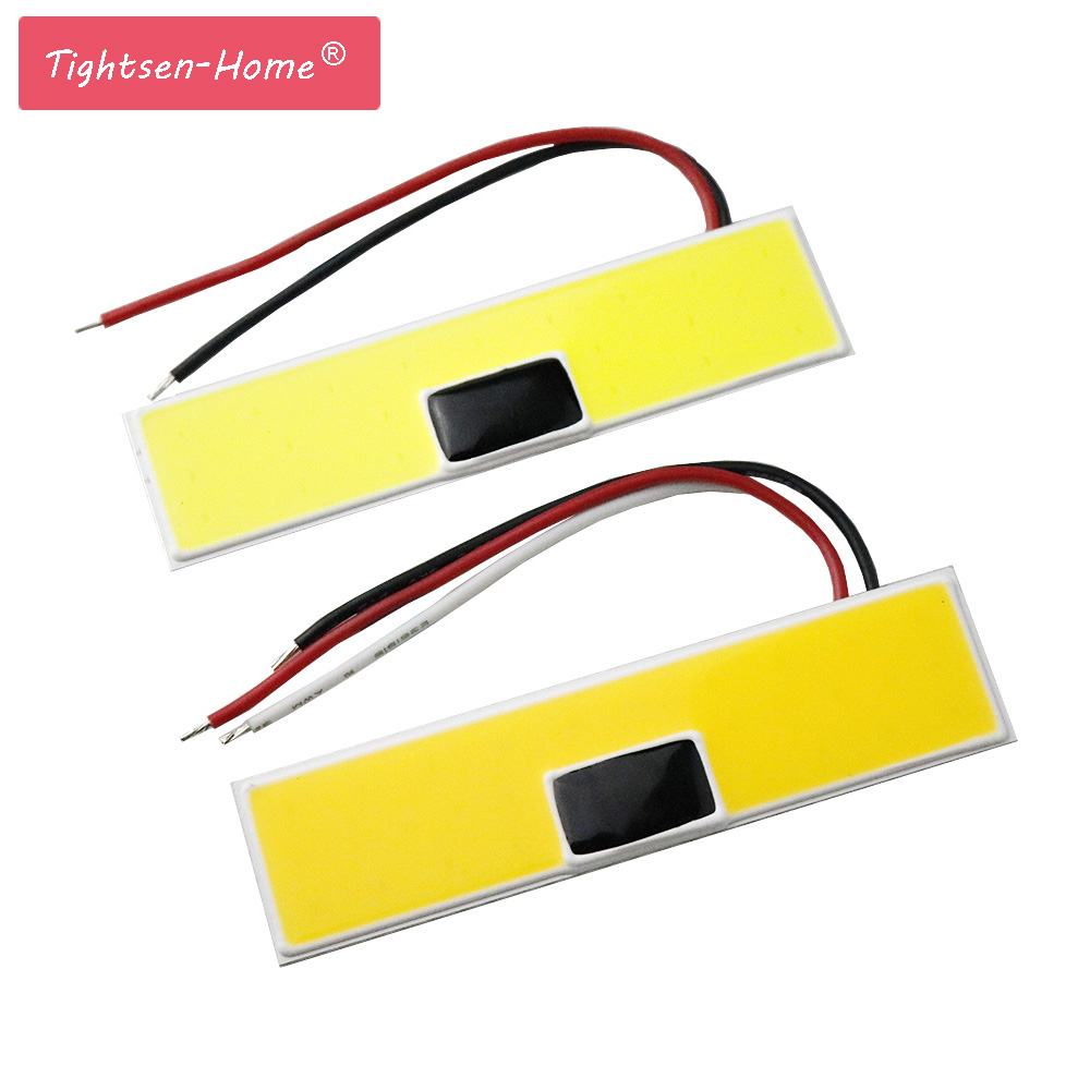 100*25mm COB LED Panel Strip Light Chip 24V 5W 12W Lamp Bulb Car Light Source Warm White Pure White For Car headlights Lighting new arrival 20w 2500lm epistar cob chip h1 led head lights bulb 12v 24v auto car daytime running light headlights 6000k white