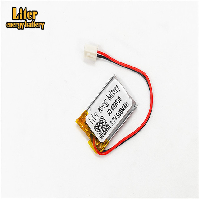 XHR-2P 2.54 500mAh <font><b>602030</b></font> 3.7V lithium polymer battery, Bluetooth MP3 wireless card audio recorder image