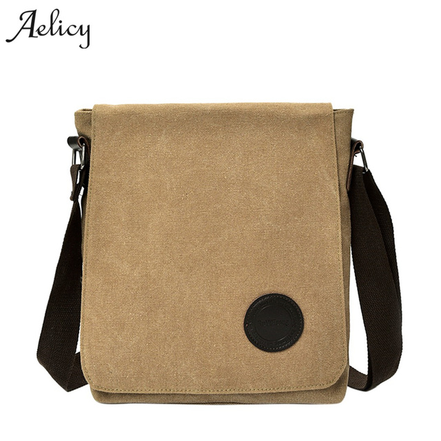 155a57eb0f Aelicy Vintage Men s Messenger Bag Black Khaki Canvas Shoulder Bag Men  Casual Briefcase High Quality