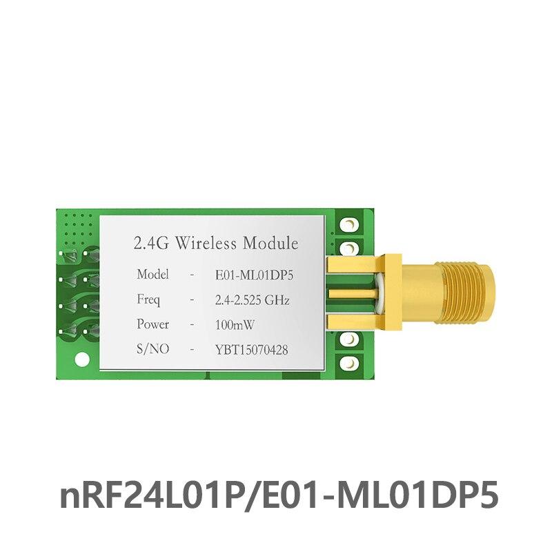 SPI nRF24L01 PA LNA 2,4 GHz módulo rf E01-ML01DP5 2,5 km mucho rf 2,4 ghz transmisor receptor con escudo para arduino nRF24L01P