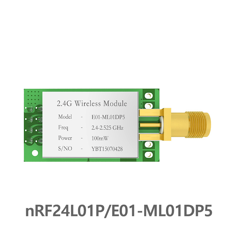 SPI nRF24L01 PA LNA 2.4GHz rf Module E01-ML01DP5 2.5km iot <font><b>2.4</b></font> <font><b>ghz</b></font> rf <font><b>Transmitter</b></font> Receiver with shield for arduino nRF24L01P image