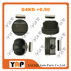 + 0.50 G4KD tłok silnika dla HYUNDAIKIA YF K4 K5 IX35 NFC NF G4KD 2.0 L4 16V średnica tłoka: 86cm 23410-25061 2009-2015