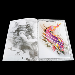Image 2 - A4 104 דפים קעקוע ספר קישוט פרח בעלי החיים קעקוע שבלונות קעקוע גוף אמנות אביזרי מתאים לגברים נשים