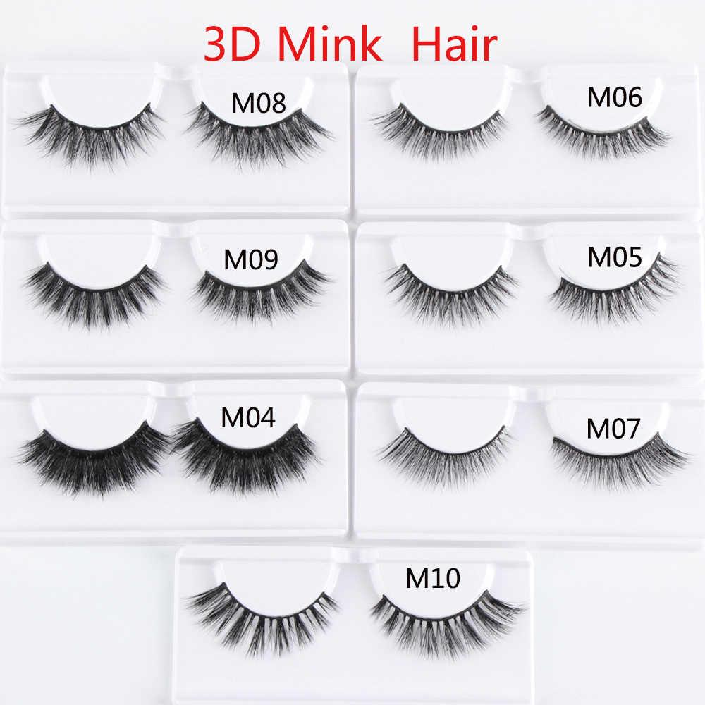 7a419d09cd5 ... 3D Mink Hair False Eyelashes Natural Thick Long Fluffy Wispy Handmade  Mink Lashes Extension Reusable Mink ...