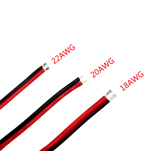 How To Extend Electrical Wire | 18 20 22 Awg Tinned Copper Electric Wire 2pin Red Black Copper Cable
