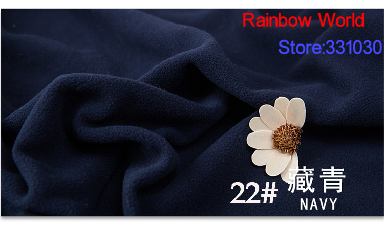 22# dark blue 1 meter soft brushed polar fleece fabric for DIY colthes stuffed toys blan ...