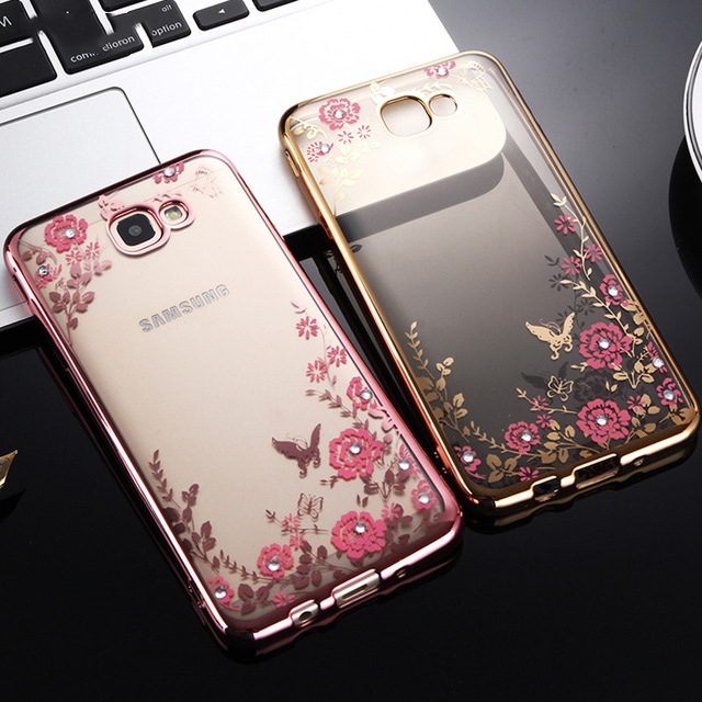 Rhinestones Case For Samsung Galaxy S8 S9 Plus S6 S7 Edge S3 S5 Neo S4 A3 <font><b>A5</b></font> A7 <font><b>2016</b></font> 2017 Note 3 4 <font><b>5</b></font> 8 9 Back Cover Casing image