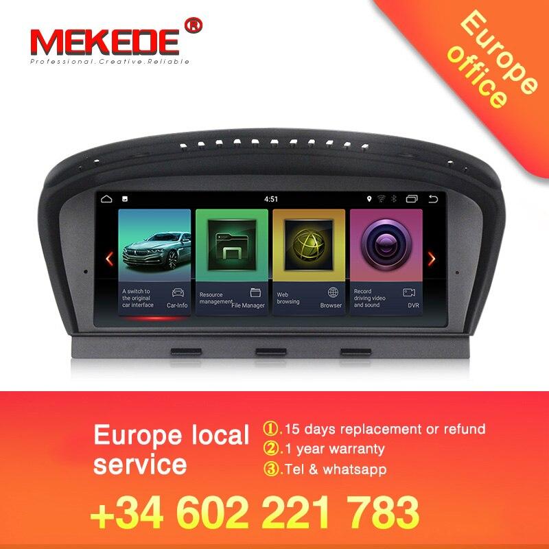 Frete grátis HD android leitor Multimédia 7.1 Carro DVD Player 8.8 Polegada Para BMW Série 3 5 Série E60 CCC /CIC 32 GB Rom GPS 4 Núcleos