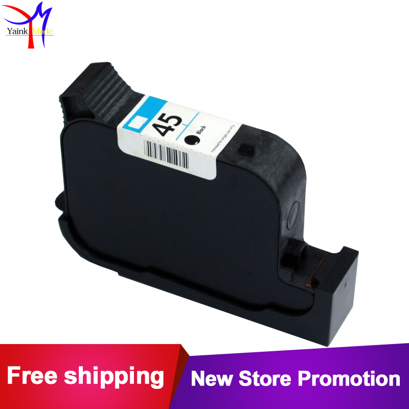 Remanufactured Black ink cartridge 51645A for Hp 45 plotters industral printer and barcode printing for hp45 720C 712 712c