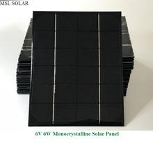 MSL SOLAR Solar panel 6W 6V Monocrystalline 1A  Photovoltaic panel cell for DIY power supply charger.give USB + diodes for free.